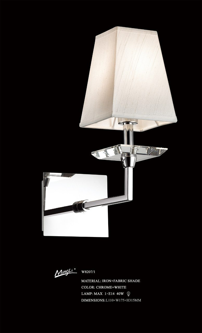 Wall Light for Bedroom Elegant W8207 1 China Chrome Finished 1light Wall Sconce