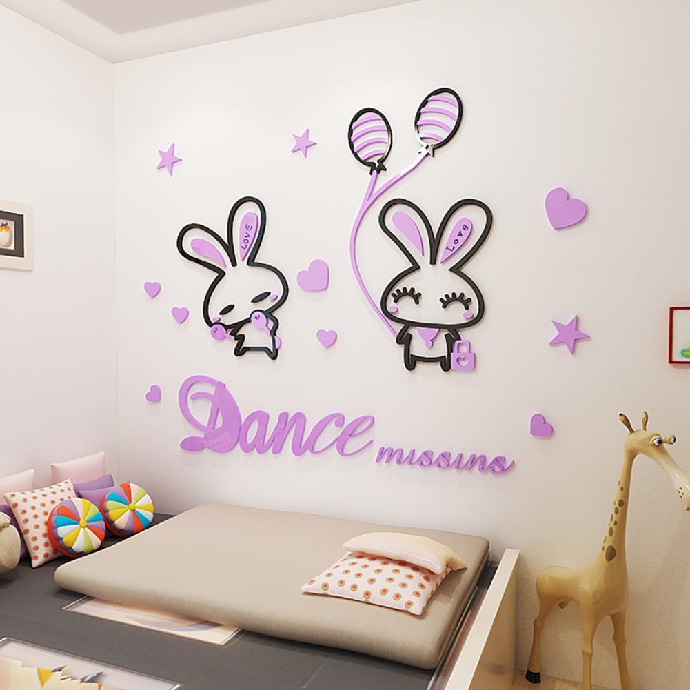 Wall Mirror for Bedroom Beautiful Amazon Wall Sticker Cartoon 3d Stereo Kids Room Bedroom