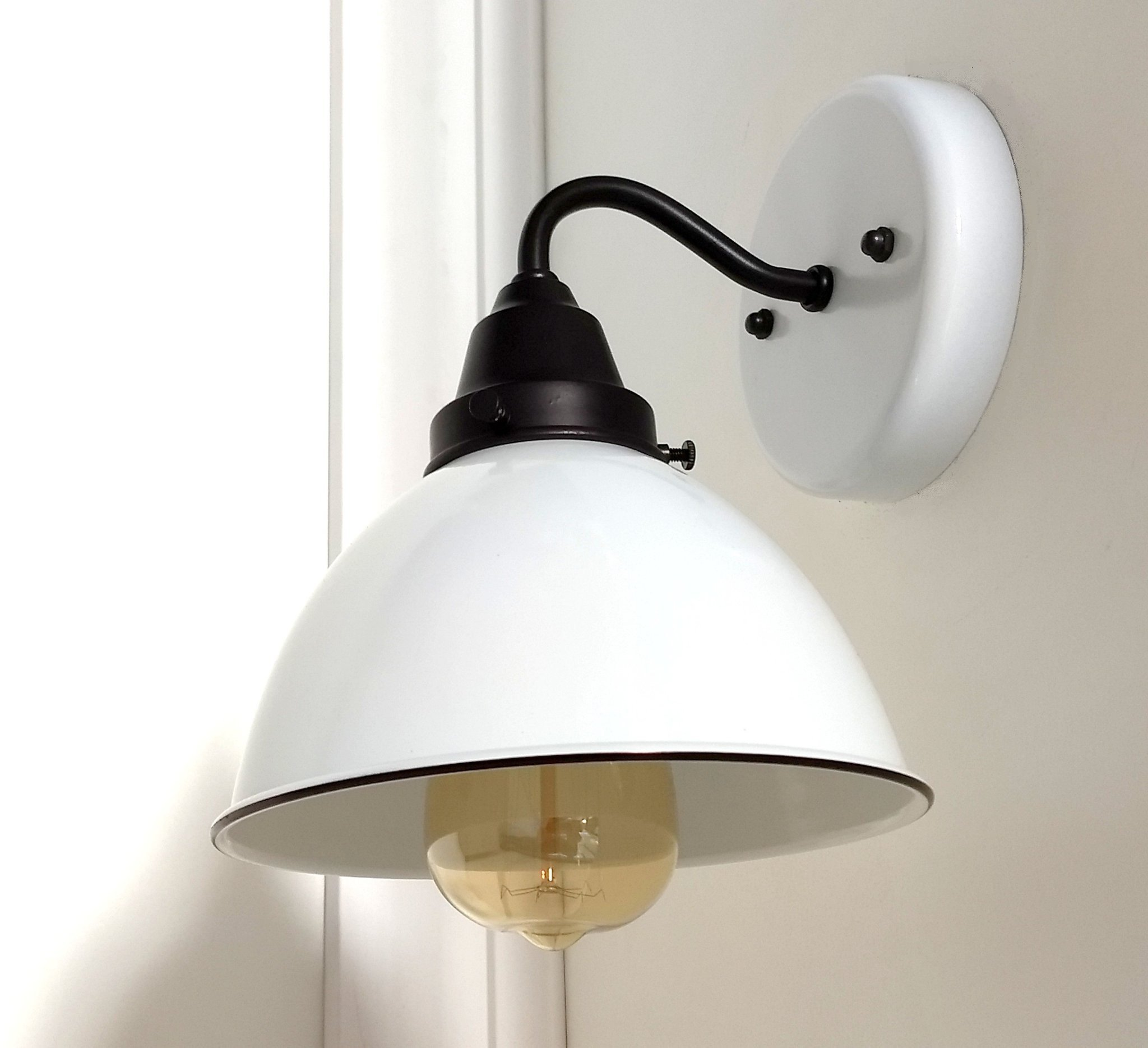 Wall Mounted Light for Bedroom Lovely White Enamel Wall Sconce Farmhouse Lighting the Lamp Goods