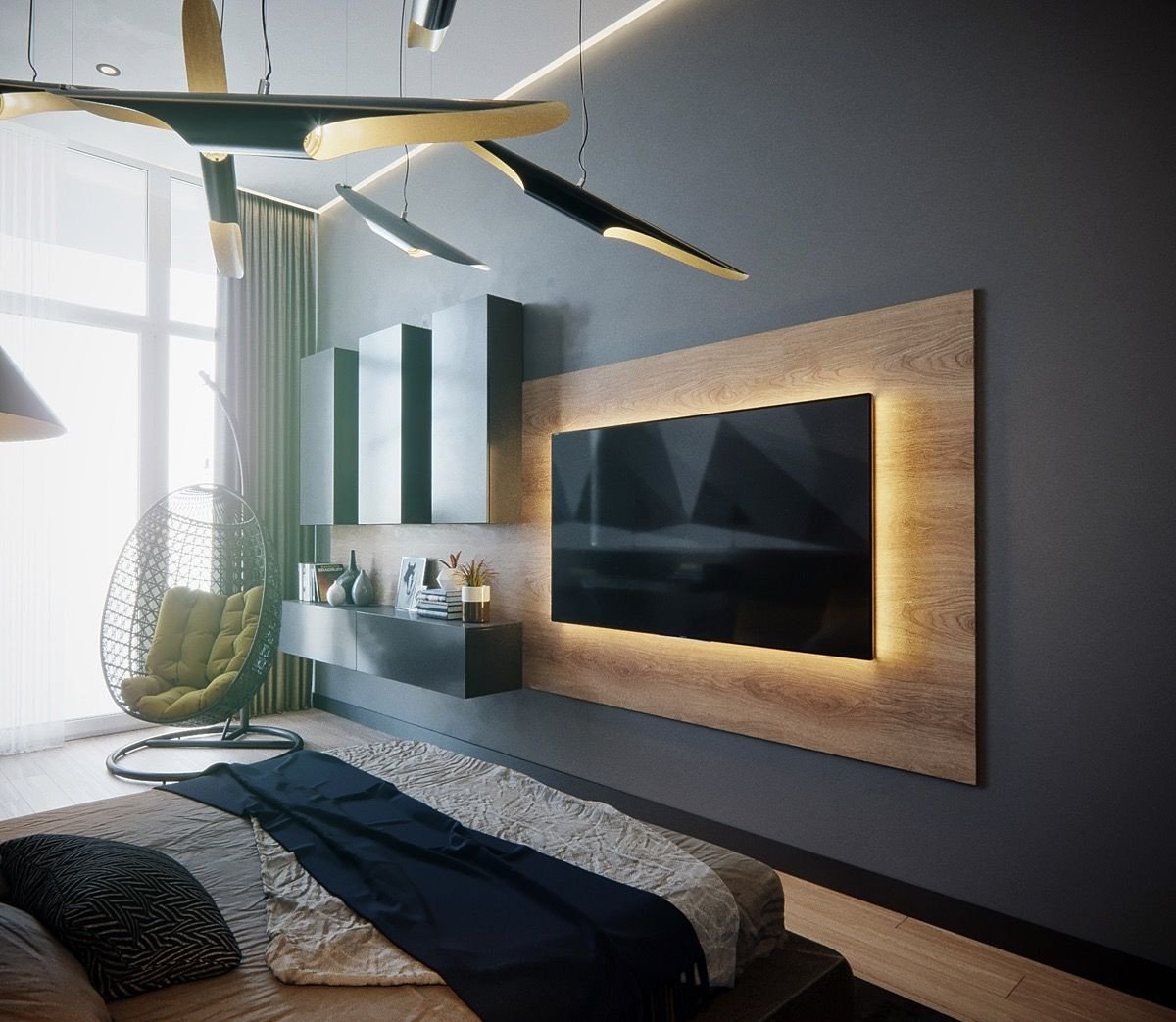 Wall Mounted Tv Ideas Bedroom New 50 Ideas to Decorate the Wall You Hang Your Tv