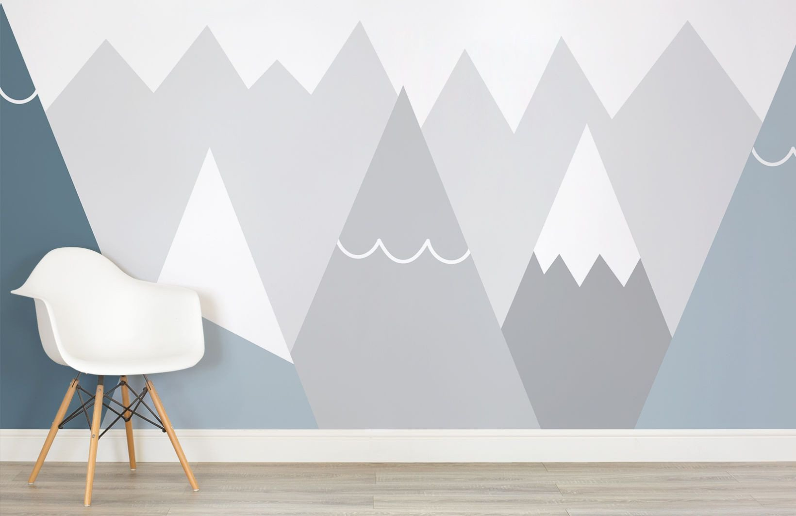 Wall Mural Ideas for Bedroom Awesome Kids Blue and Gray Mountains Wall Mural
