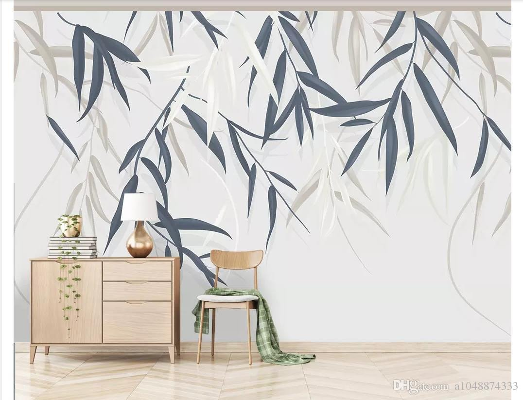 Wall Mural Ideas for Bedroom Fresh 3d Wall Murals Wallpaper Custom Picture Mural Wall Paper Minimalistic Hand Drawn Vintage Leaf Plant Flower Tv Background Wall Home Decor Wallpaper Hd