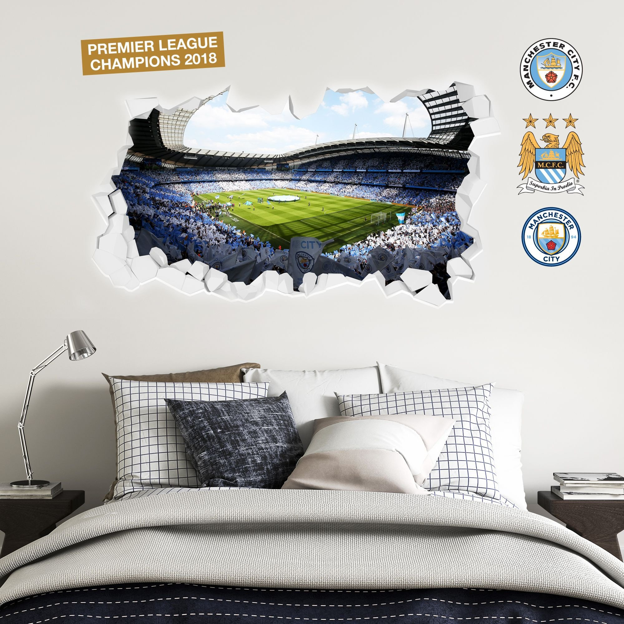 Wall Mural Ideas for Bedroom Inspirational Pin On Manchester City F C Wall Stickers