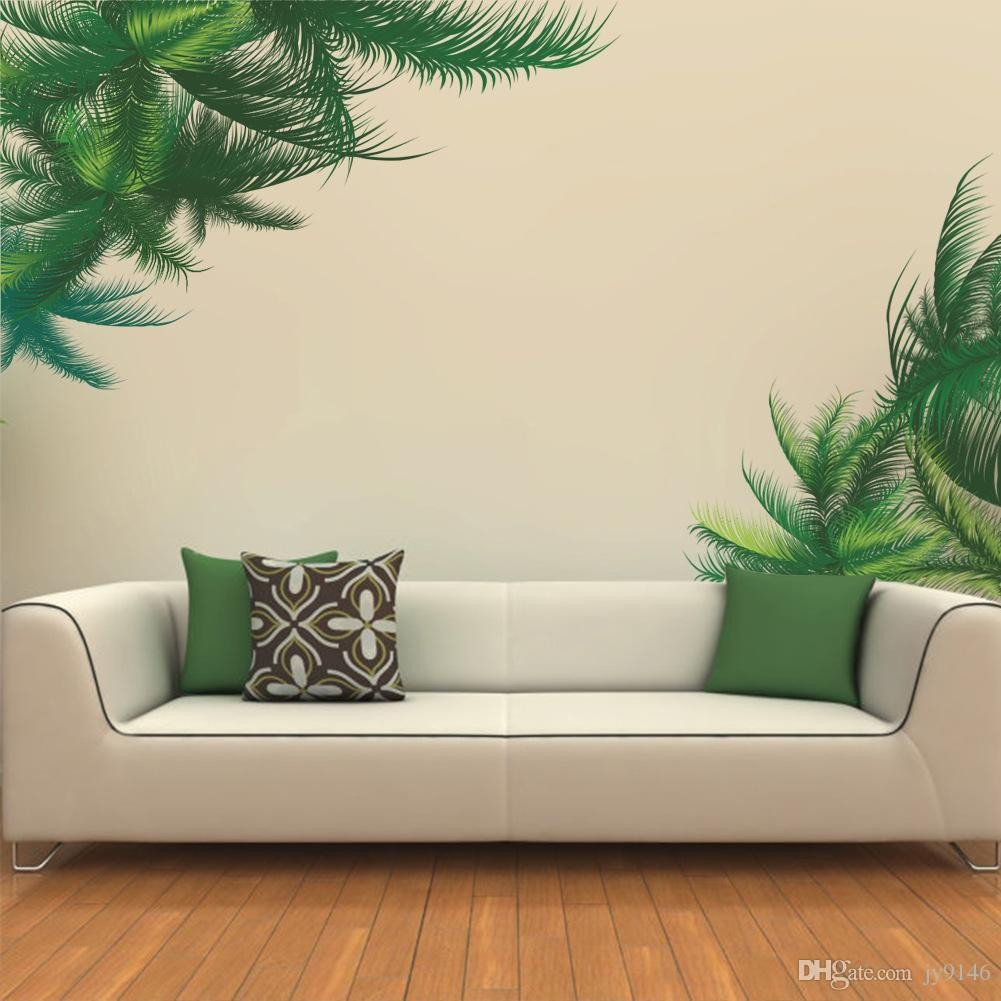 Wall Murals for Bedroom Beautiful Vinyl Waterproof Tree Leaf Wall Stickers Plant Wall Mural Decal Living Room and Bedroom Decorative Stickers Wallpaper Custom Wall Decals Custom Wall