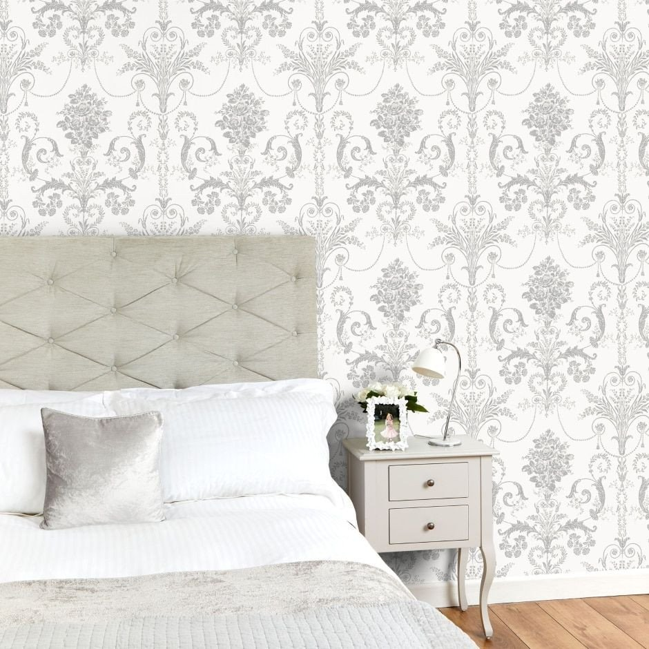 Wall Paper Design for Bedroom Elegant Josette Silver Glitter Wallpaper