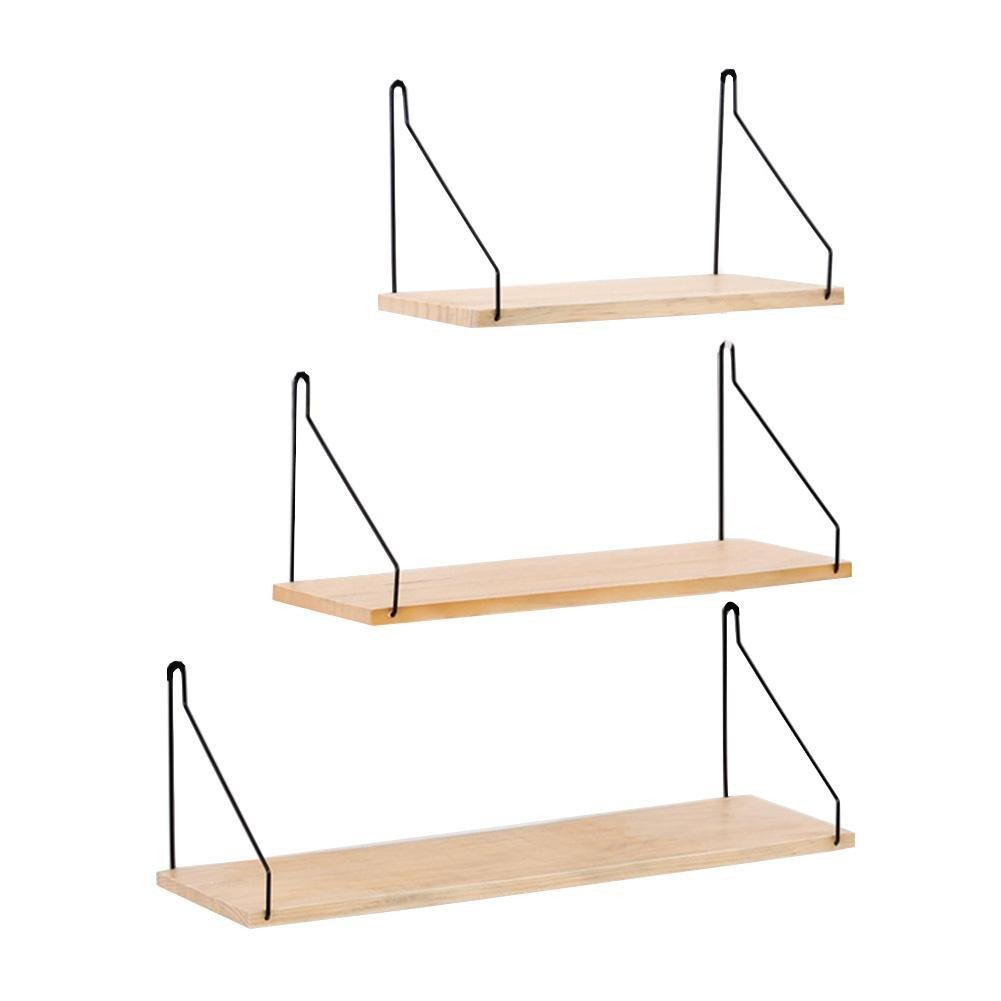 Wall Shelf for Bedroom Fresh 2019 solid Wooden Wall Shelf Iron Partition Board Bedroom Tv Wall Hanging Storage Shelf Rack for Home & Living Room Decoration From Tanguimei6 $14 14