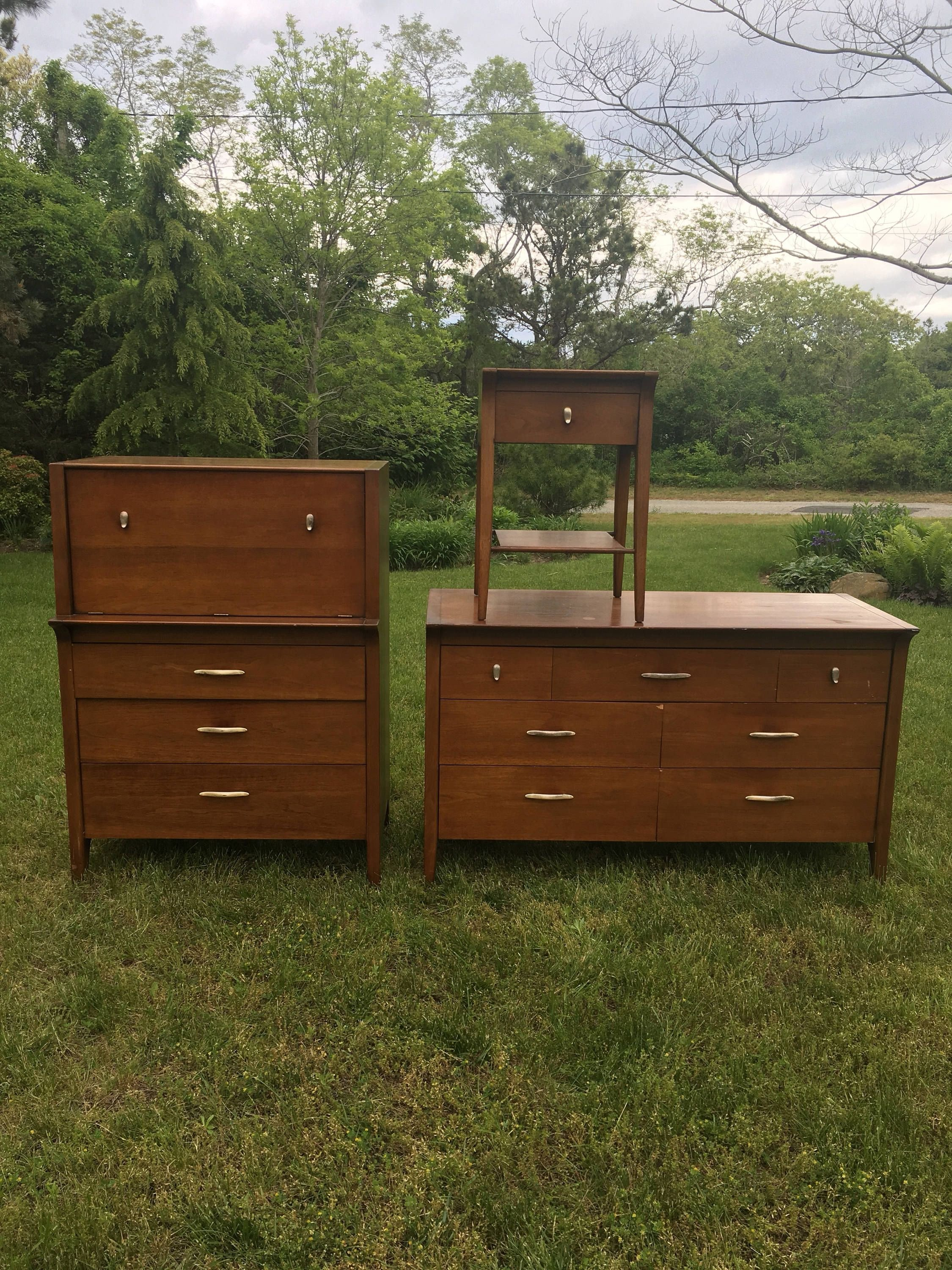 Wall Unit Bedroom Set Inspirational Mid Century Modern Drexel Profile Bedroom Set 3 Pieces
