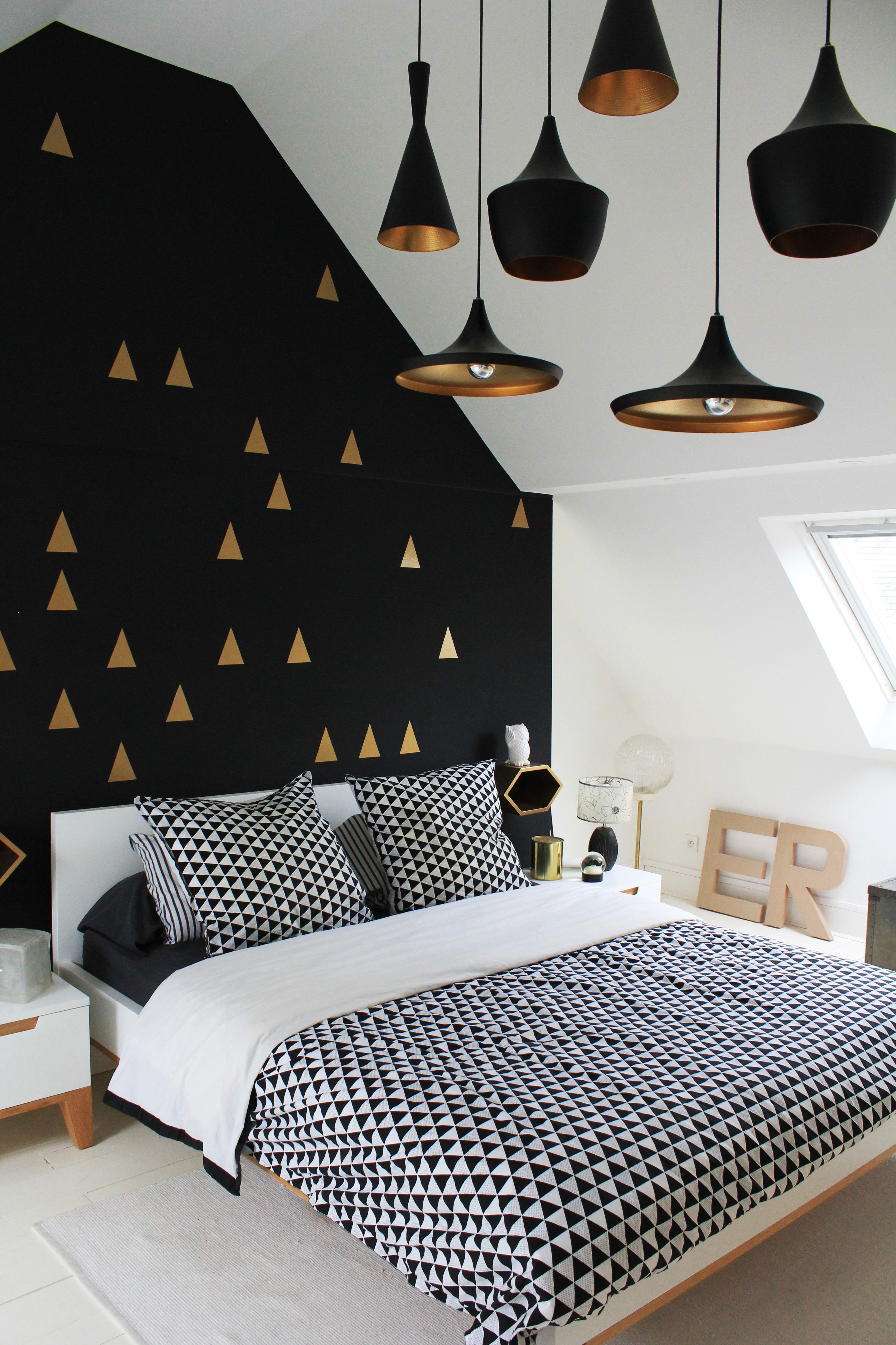 Wallpaper Borders for Bedroom Best Of Bedroom White Gold and Black Interior Love the Wall and