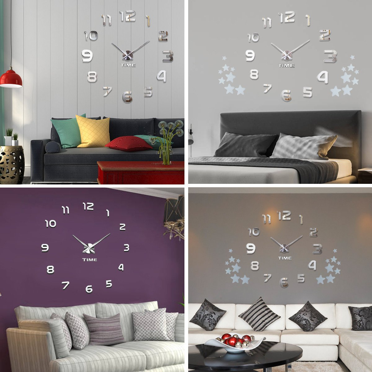 Wallpaper Borders for Bedroom Best Of Modern Mute Frameless Wall Clock with 3d Diy Stickers Home Decor Gift