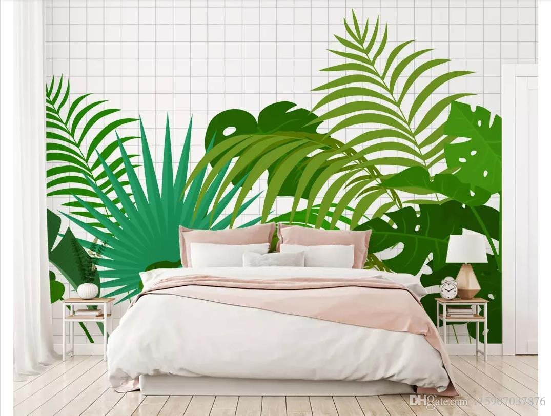 Wallpapers for Bedroom Wall Awesome Papel De Parede Custom 3d Silk Mural Wall Paper Modern Fresh Green Plant Bedroom sofa Background Wall Sticker S Wallpaper S Wallpapers