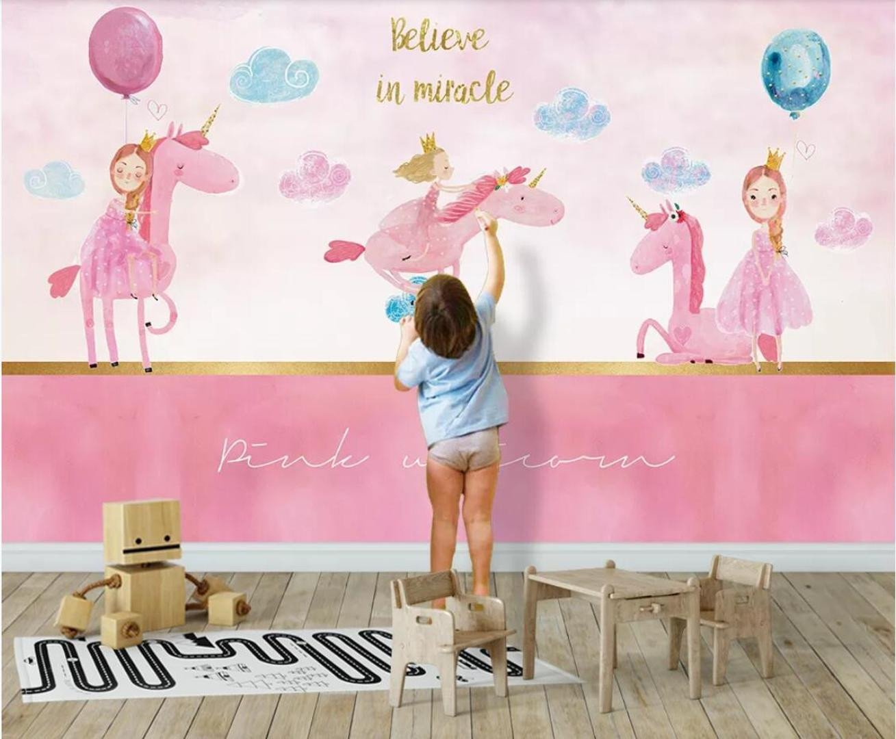 Wallpapers for Girls Bedroom Awesome Kids Bedroom Unicorn Wall Paper Mural for Children Bedroom Canvas Wallpaper 3d Art Wall Painting Home Contact Paper Custom Free Wallpaper Puter