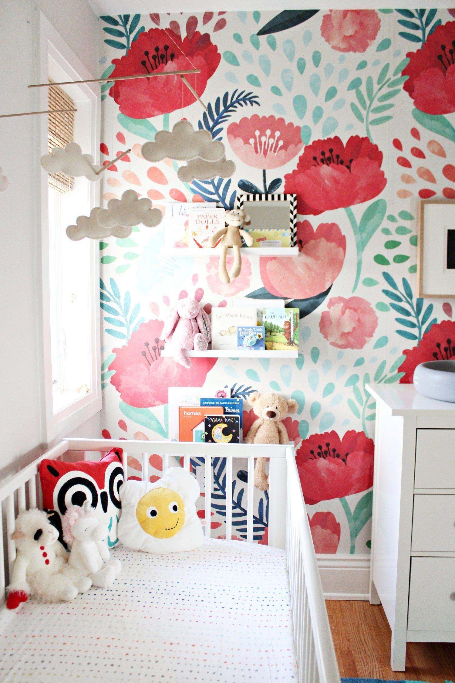 Wallpapers for Girls Bedroom Best Of Love the Flower Feature Wall Idea to Try In Lexie S Room