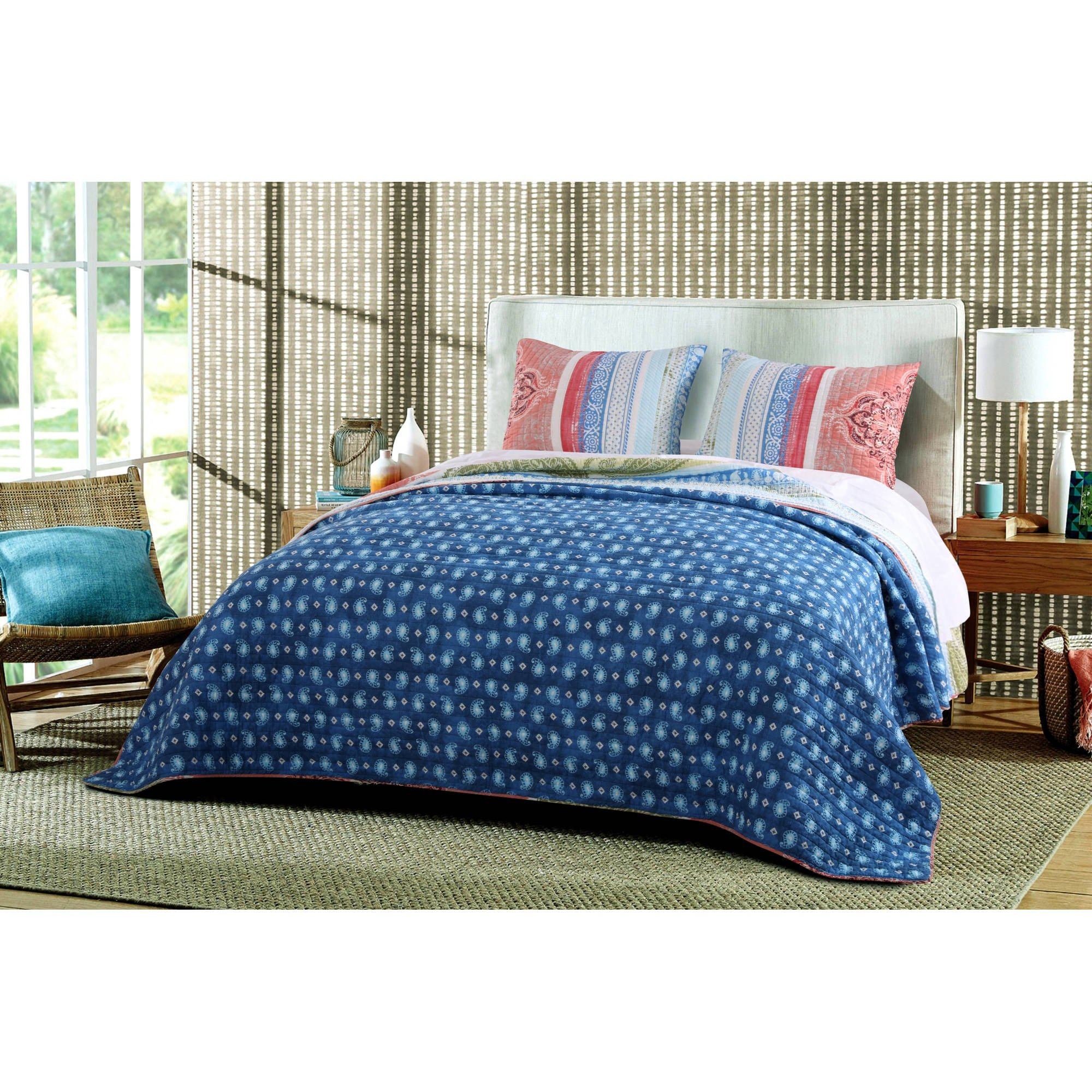 Walmart Bedroom End Tables Elegant Global Trends Hamilton Quilt Set Walmart