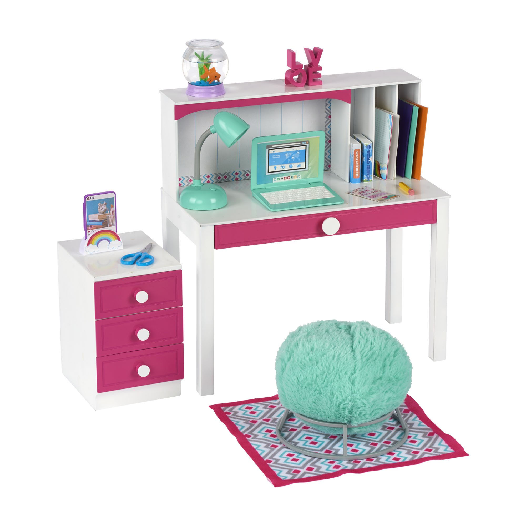 """Walmart Bedroom End Tables Inspirational My Life as Desk Play Set for 18\"""" Dolls 24 Pieces Walmart"""