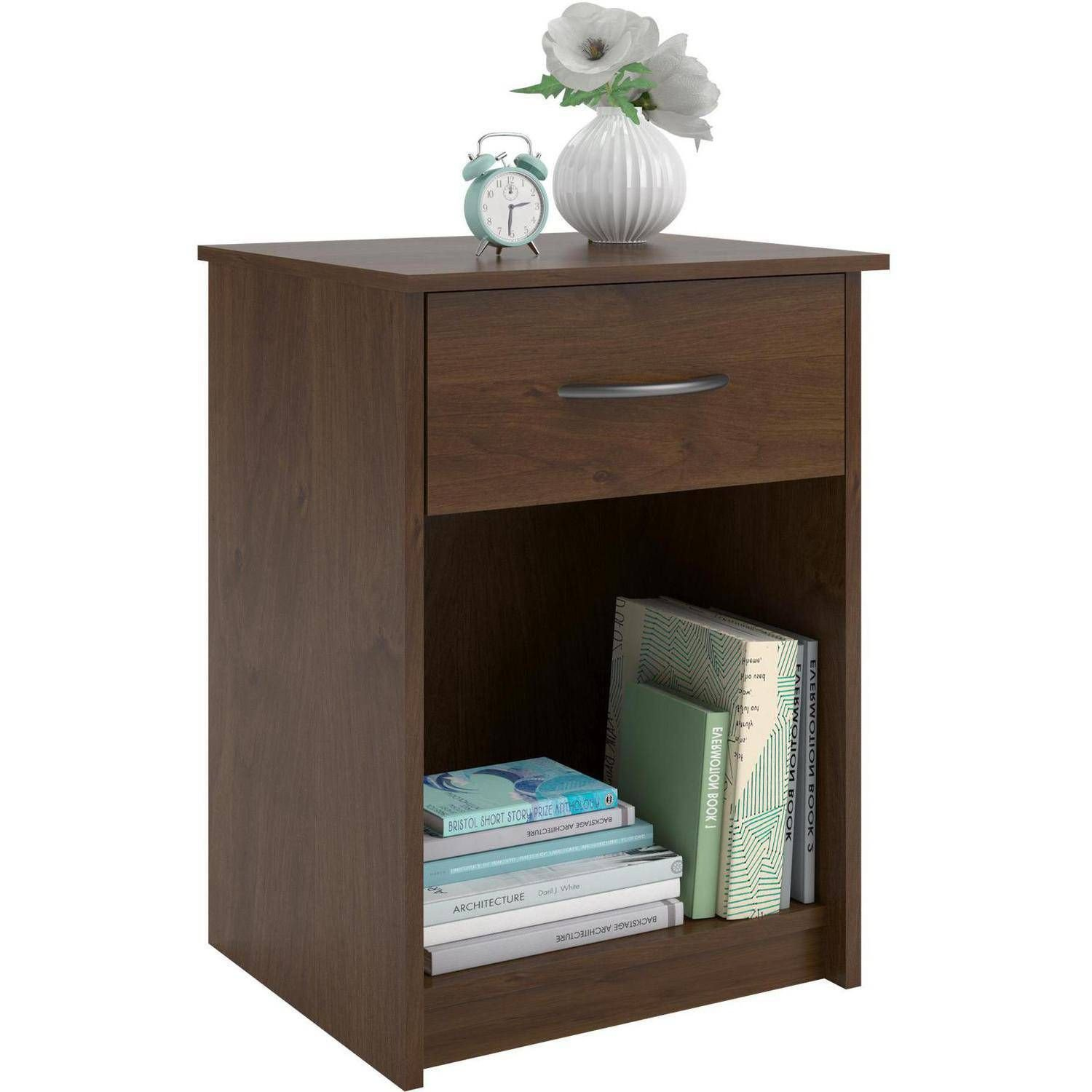 Walmart Bedroom End Tables Lovely Mainstays 1 Drawer Nightstand End Table Black Ebony ash