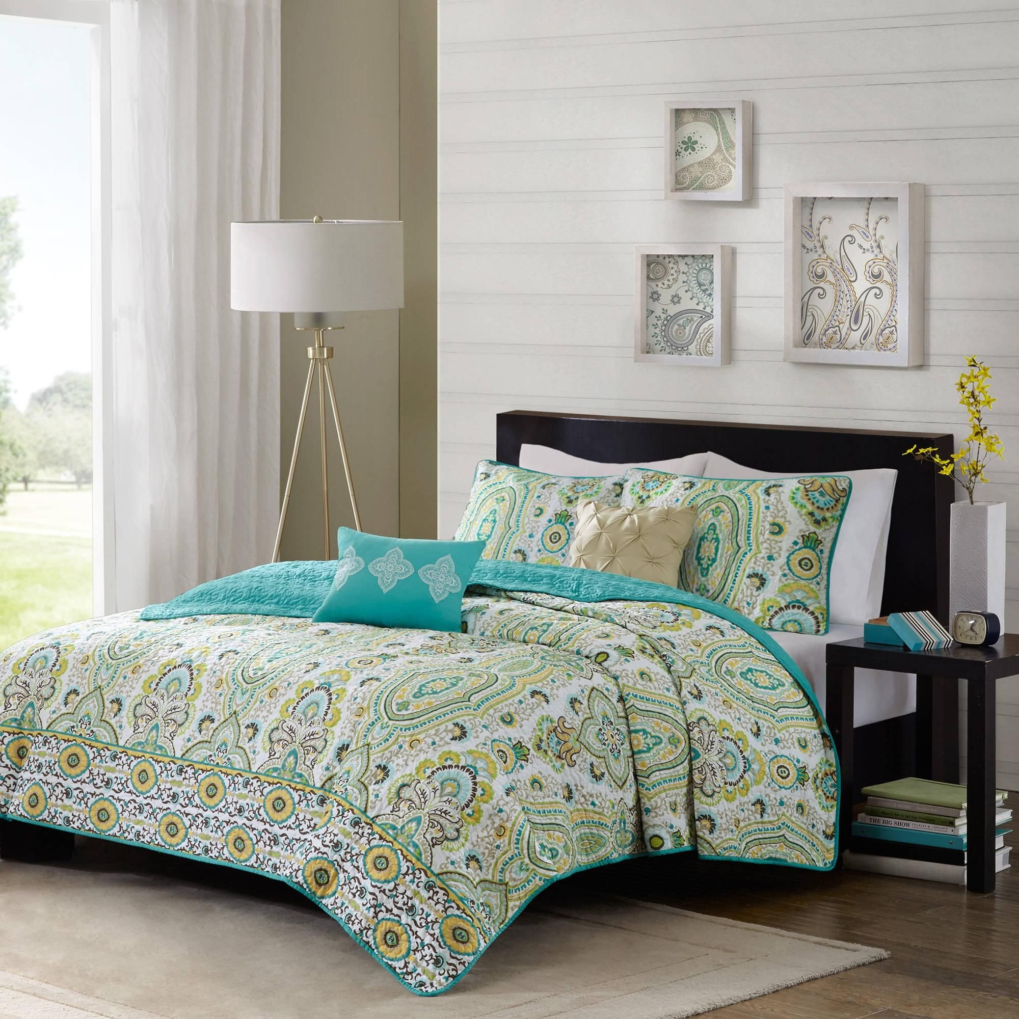Walmart Bedroom Set Queen Inspirational Home Essence Apartment Heather Coverlet Set