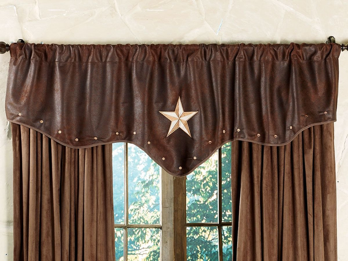 Western Curtains for Bedroom Beautiful Starlight Trails Chocolate Star Valance