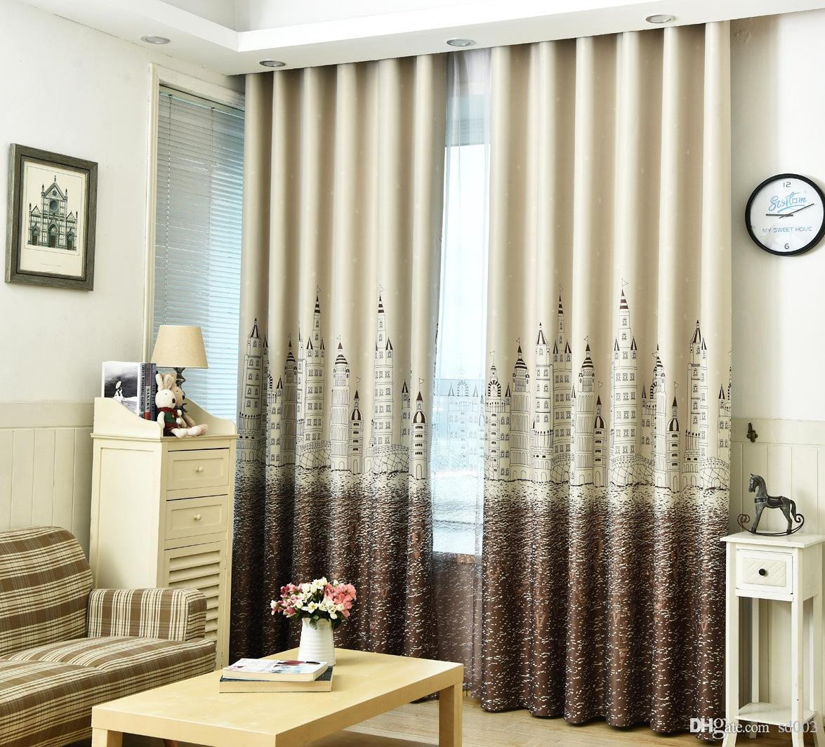 Western Curtains for Bedroom Fresh 2019 Cartoon Shading Window Curtain Castle Printing Drape for Living Room Kids Bedroom Cute Home Decor Multi Colors 23xs Ii From Sd003 $9 12