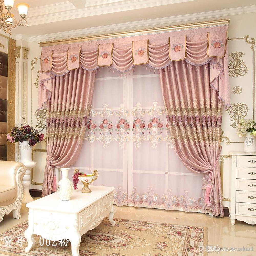 Western Curtains for Bedroom Unique 2019 Modern Simple High Precision European Style Embroidered Living Room Curtain Finished Shade Cloth Curtain Cloth From Samul $23 32