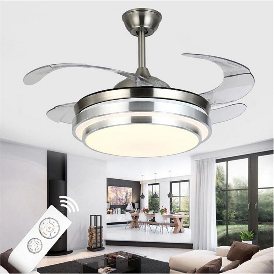What Size Fan for Bedroom New 2019 Ultra Quiet Ceiling Fans 110 240v Invisible Blades Ceiling Fans 42 Inch Modern Fan Lamp Living Room European Ceiling Light From Ok360 $463 12