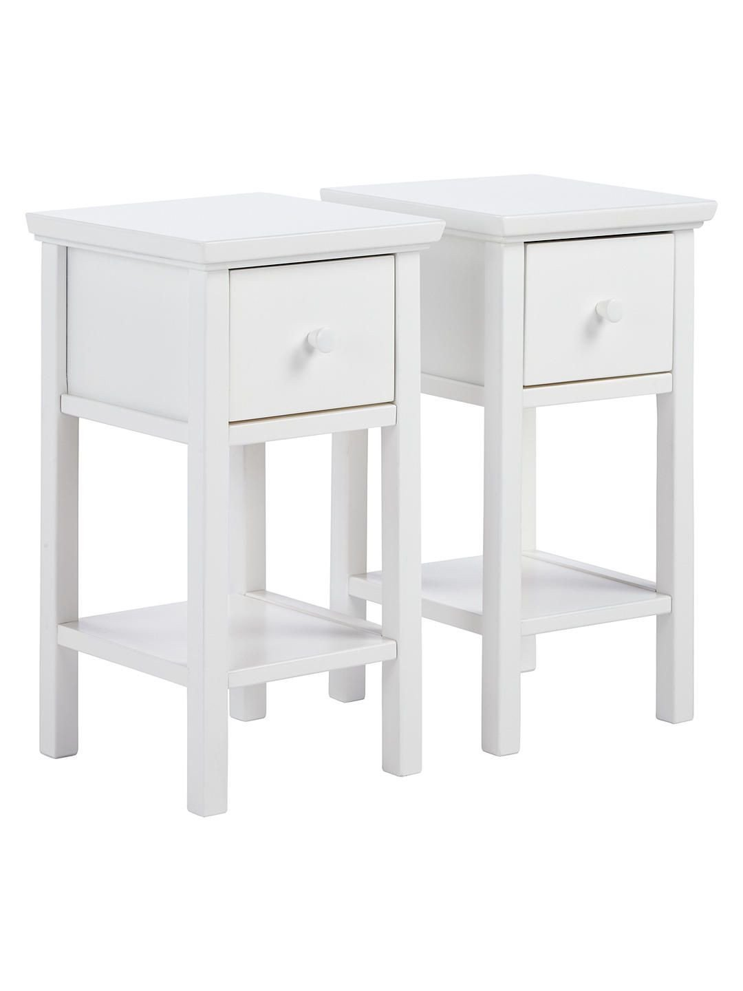 White Bedroom End Tables Awesome John Lewis & Partners Wilton Set Of 2 Bedside Tables Grey