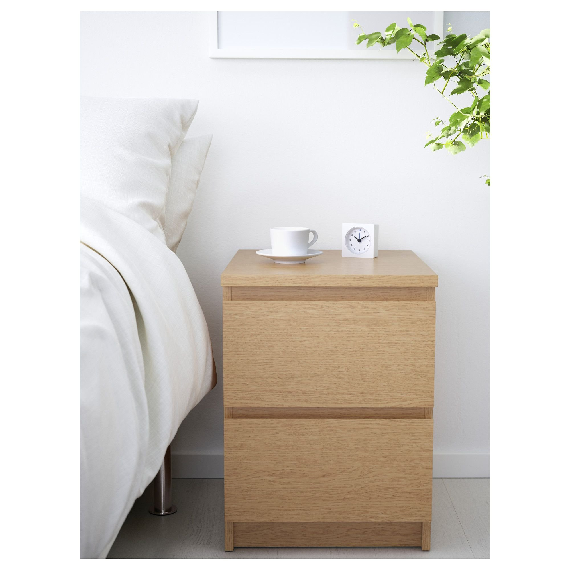 White Bedroom End Tables Awesome Malm Chest Of 2 Drawers Oak Veneer