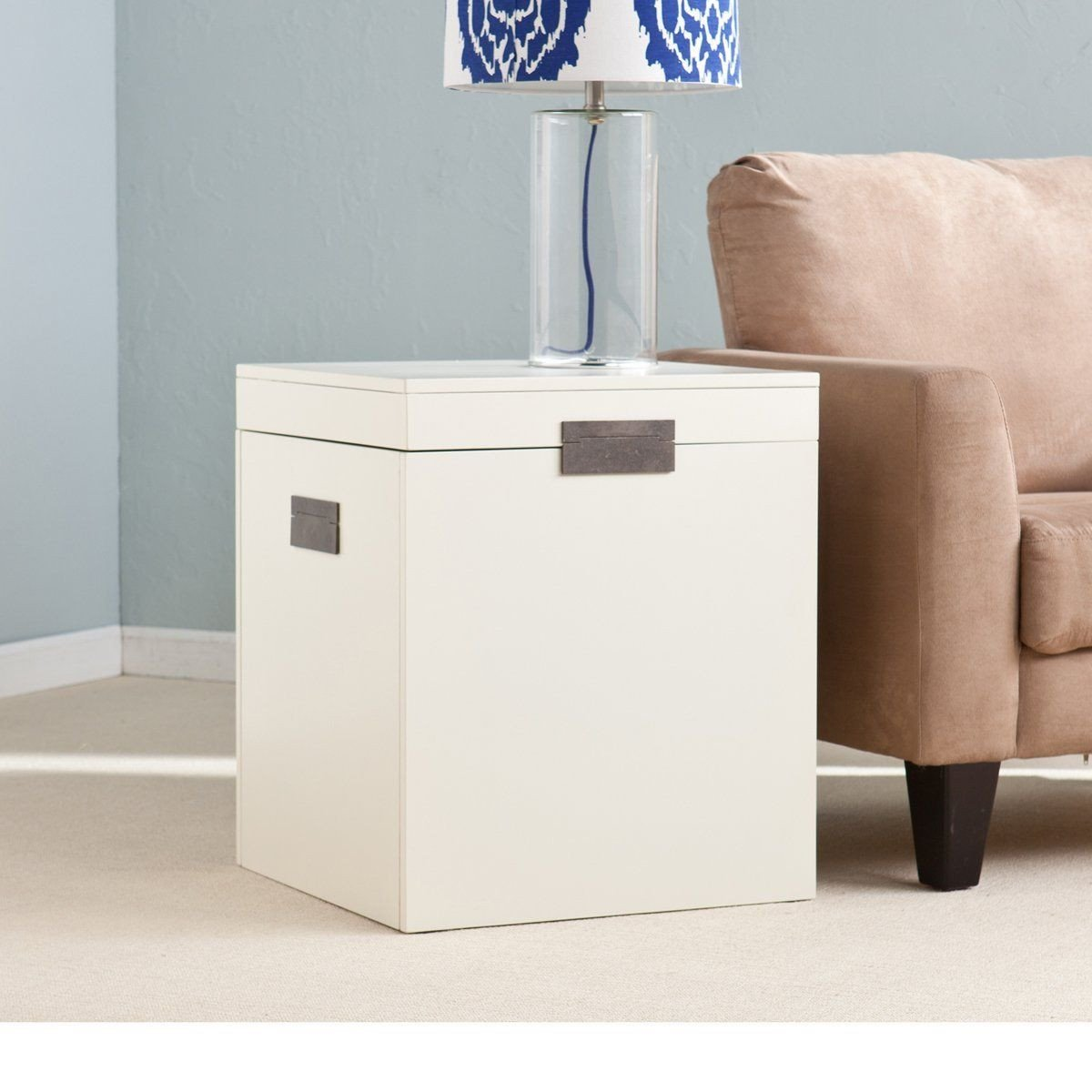 White Bedroom End Tables Awesome White Trunk End Table Easy Craft Ideas