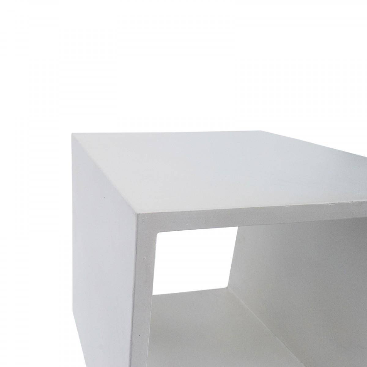 White Bedroom End Tables Beautiful White Concrete End Table Vig Modrest Diaz Modern