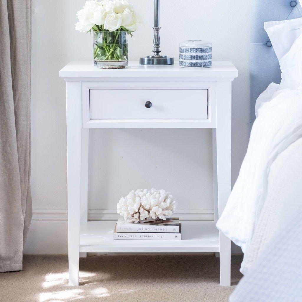 White Bedroom End Tables Best Of White Bedside Table 1 Drawer Bedroom Design