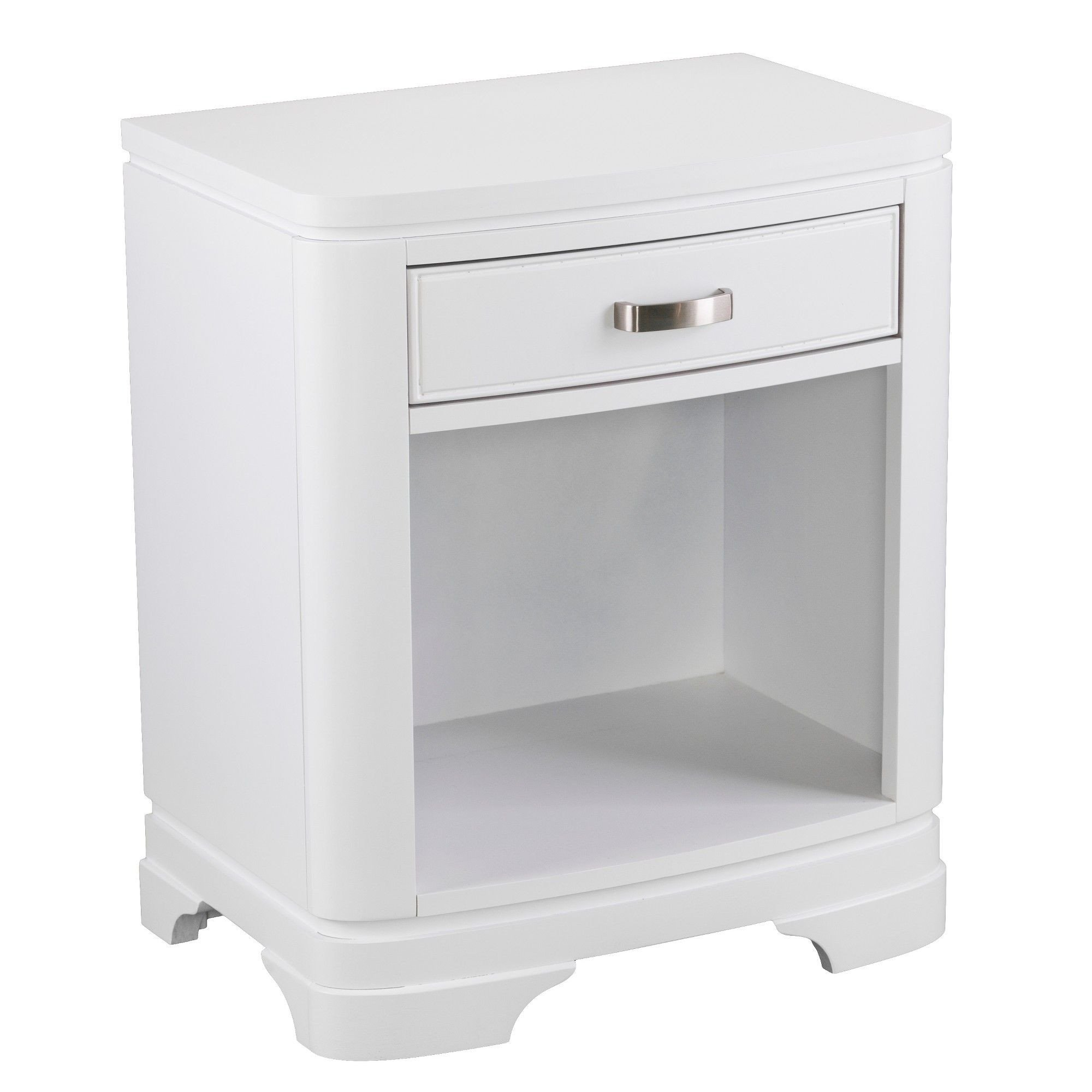 White Bedroom End Tables Elegant Gally Single Drawer Nightstand White Aiden Lane