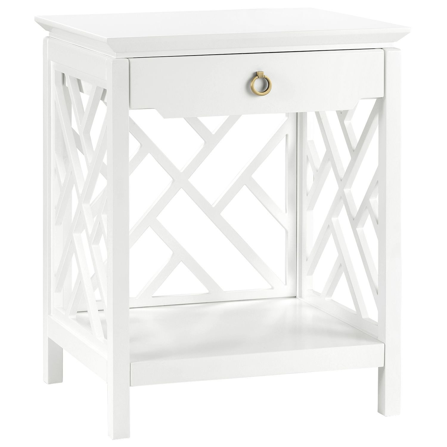 White Bedroom End Tables Inspirational Bungalow 5 Nantucket White Side Table Zinc Door Pool House