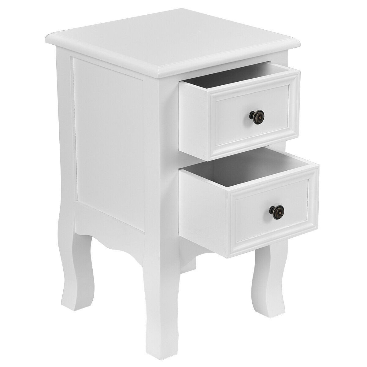 White Bedroom End Tables Lovely White Night Stand for Bedrooms W 2 Storage Drawers Wood End Accent Table