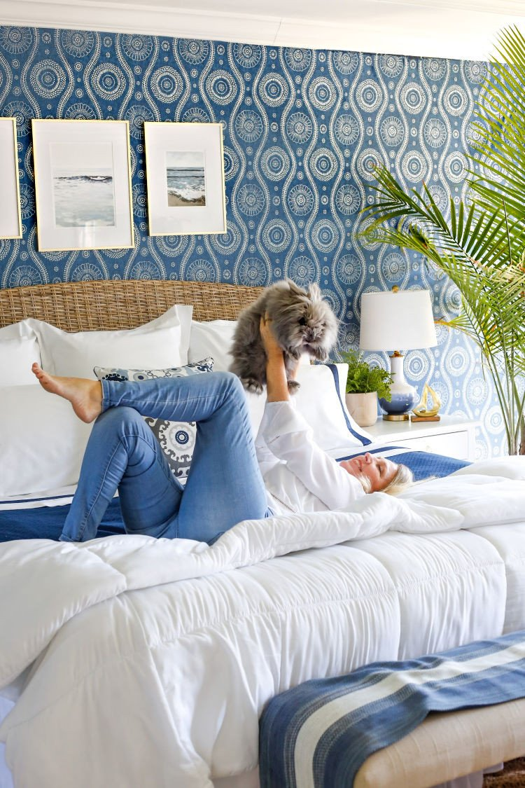 White Coastal Bedroom Furniture Awesome Coastal Blues Master Bedroom Makeover Sand and Sisal