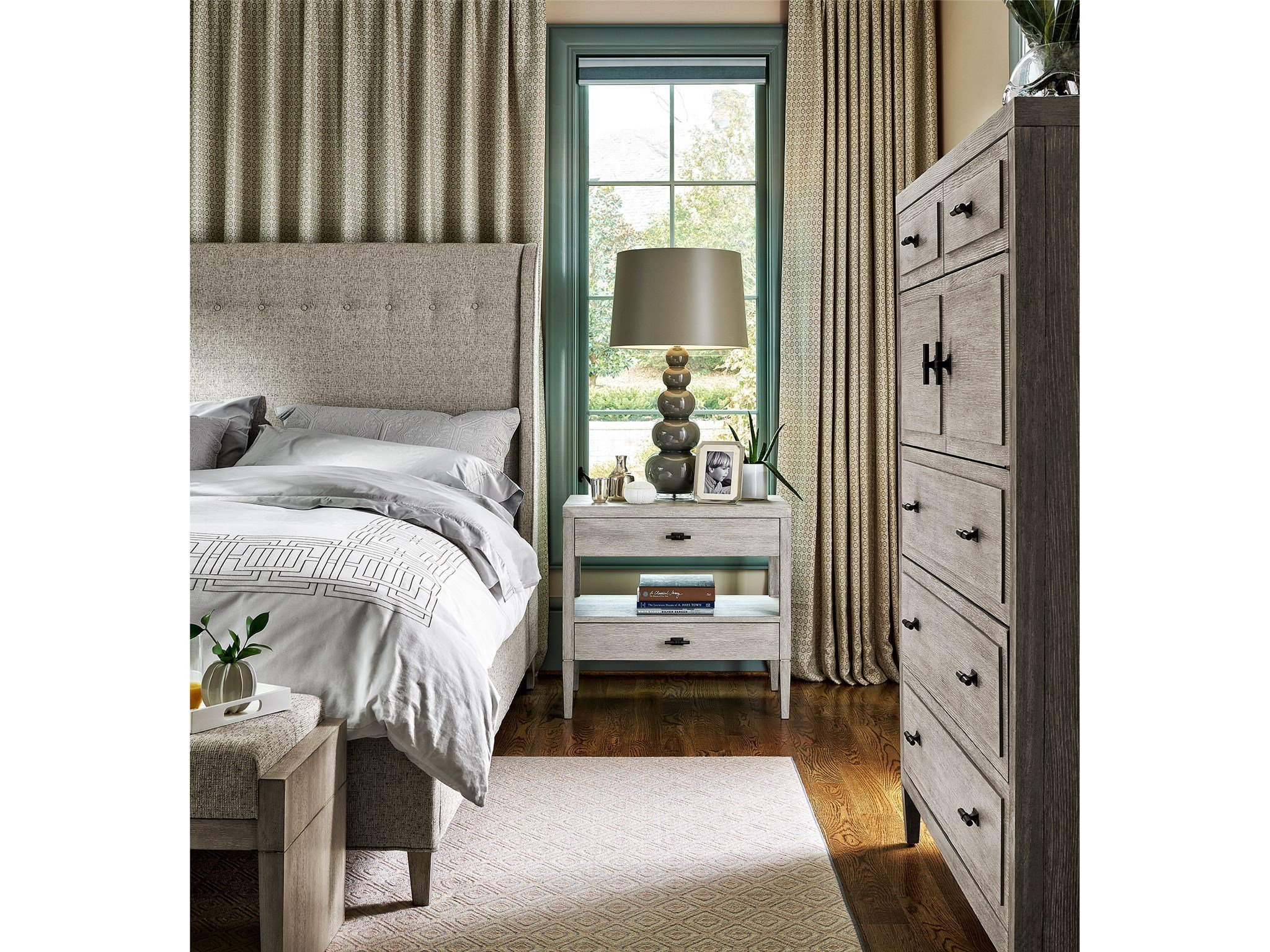 White Coastal Bedroom Furniture Luxury Midtown Midtown Nightstand