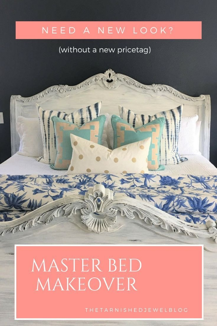 White Coastal Bedroom Furniture New Master Bed Frame Makeover Painted White