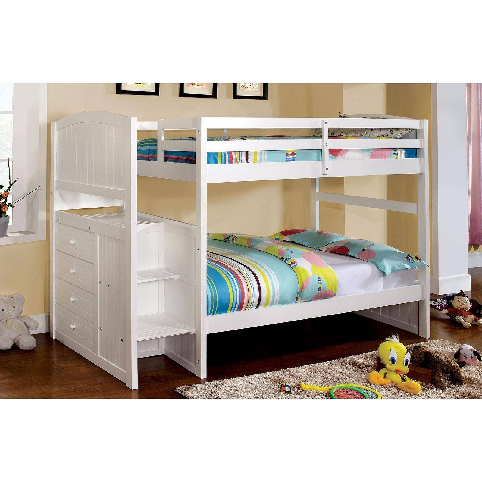 White Cottage Bedroom Furniture Elegant Cottage Wood Full Bunk Bed In White Appenzell by Furniture Of America