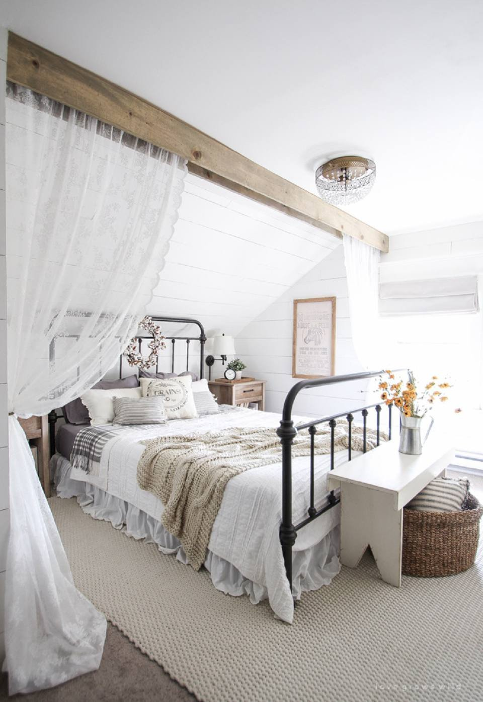 White Cottage Bedroom Furniture Luxury 50 Decorating Ideas for Farmhouse Style Bedrooms