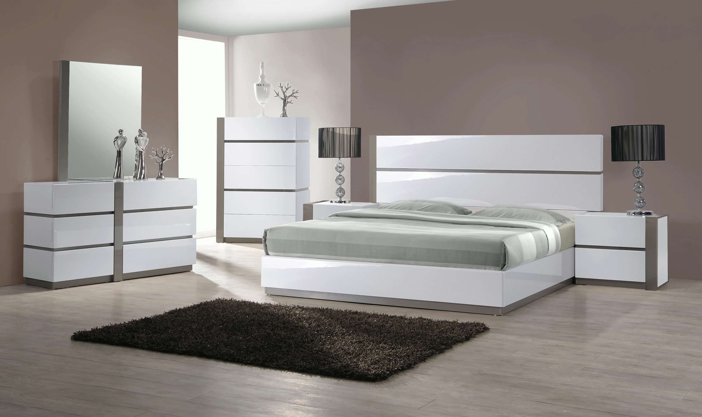 White Gloss Bedroom Furniture Elegant Chintaly Imports Left 2 Drawer Night Stand & Reviews