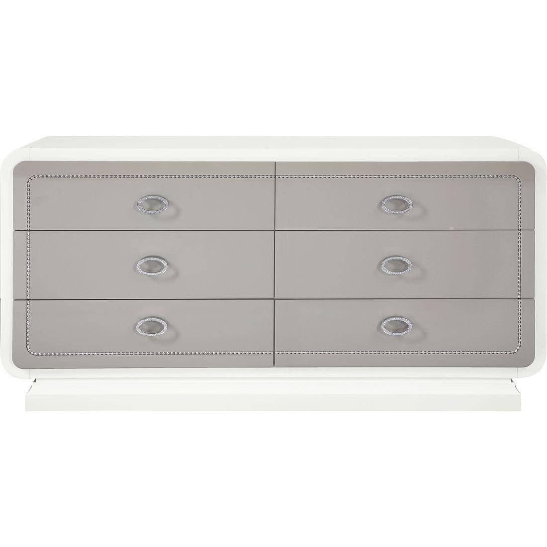 White Gloss Bedroom Furniture Inspirational Glam Ivory & Latte High Gloss Queen Bedroom Set 5pcs