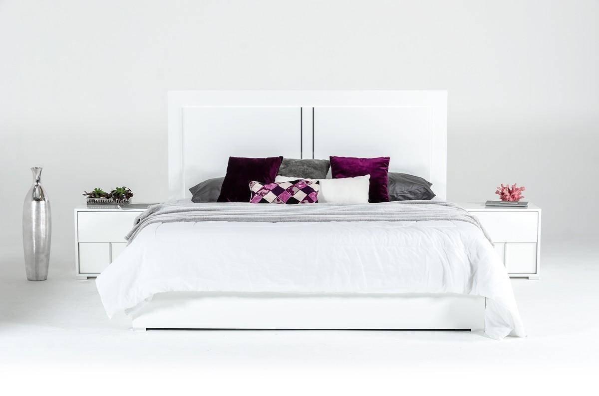 White Gloss Bedroom Furniture Inspirational Vig Modrest Nicla Modern White Gloss Finish Queen Bedroom