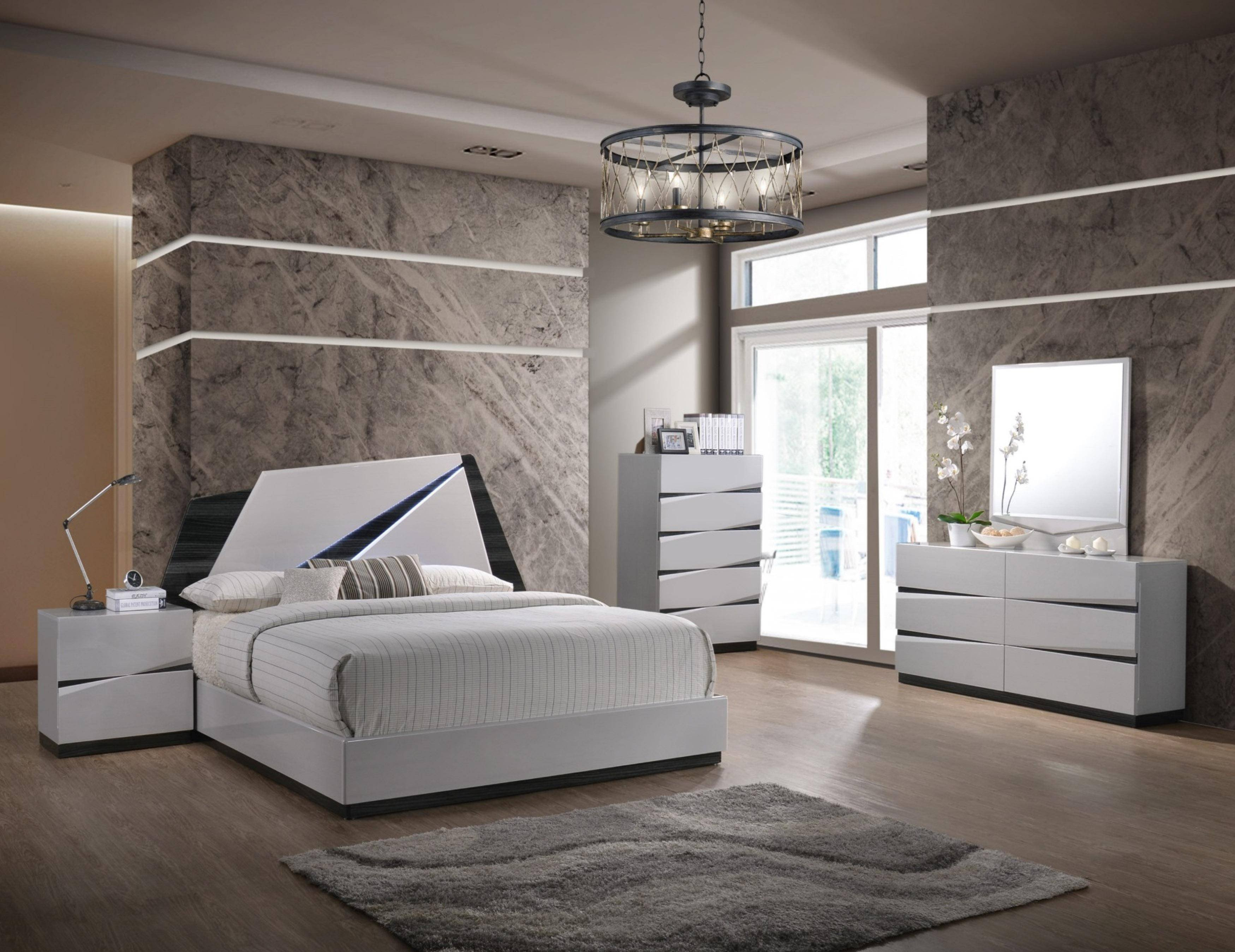White Gloss Bedroom Furniture Luxury Global Furniture Scarlett Modern White Gloss Finish Queen