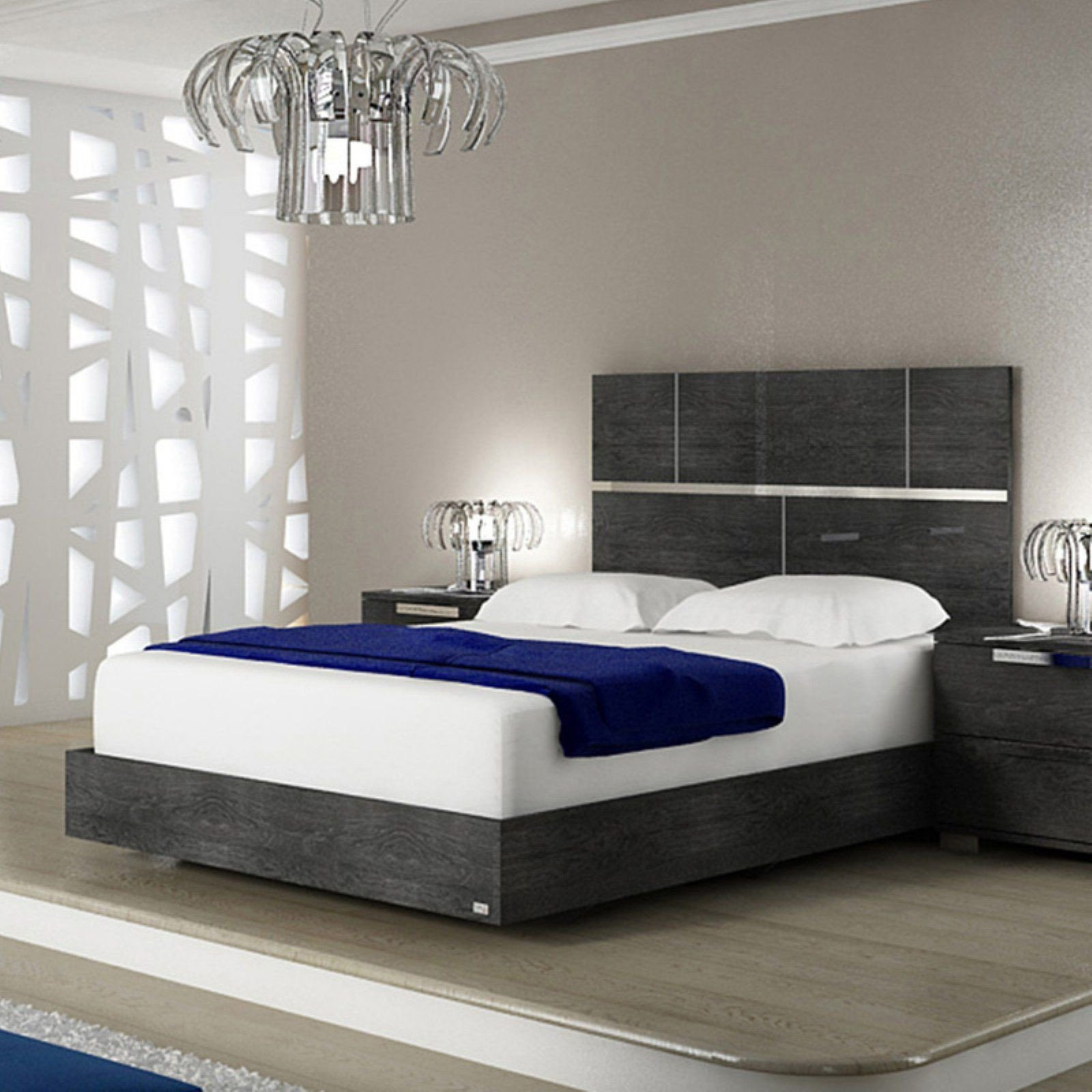 White Gloss Bedroom Furniture New Casabianca Milo Low Profile Lacquer Bed Size King