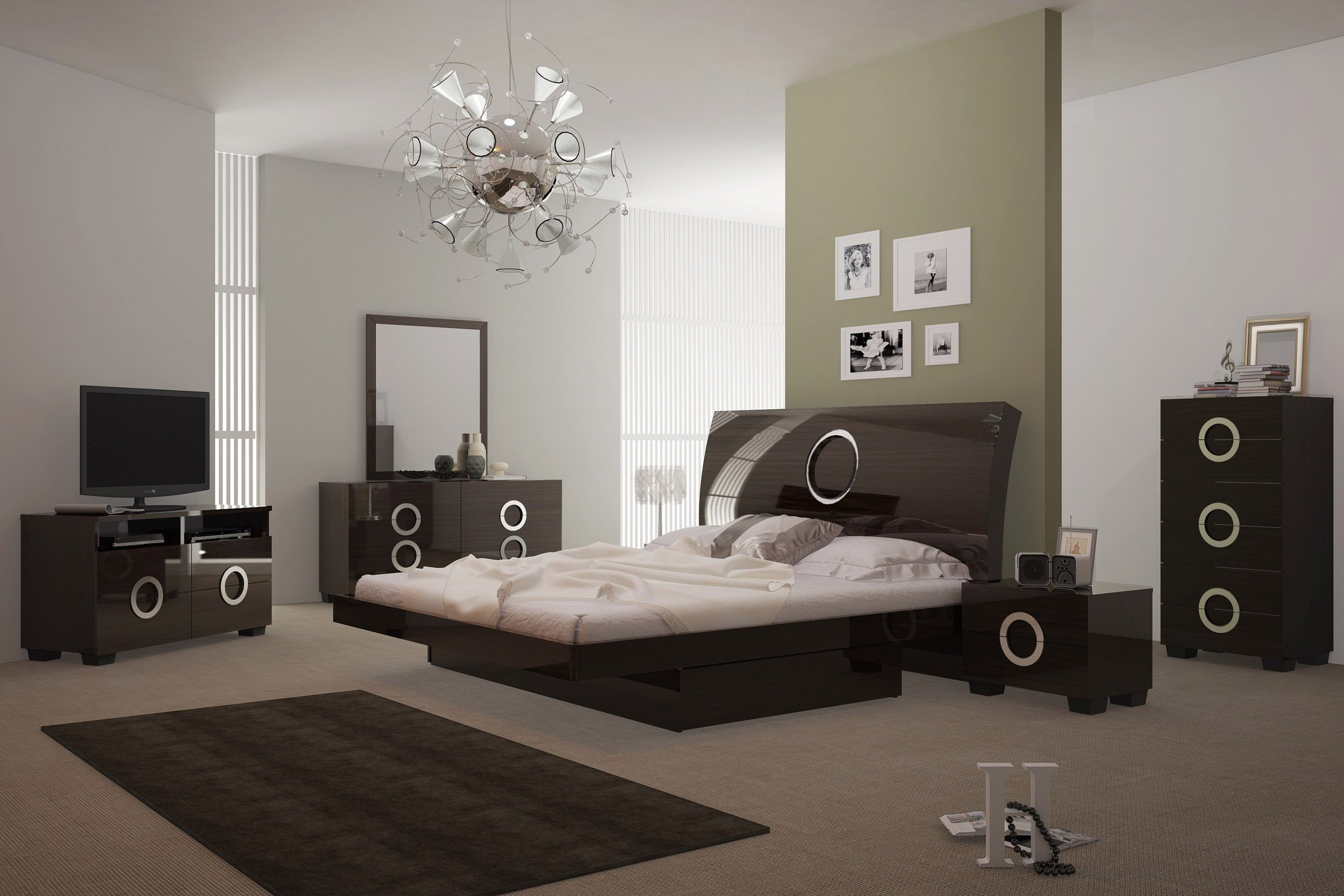 White Lacquer Bedroom Furniture Beautiful Monte Carlo Bedroom Set In Wenge Lacquer Finish
