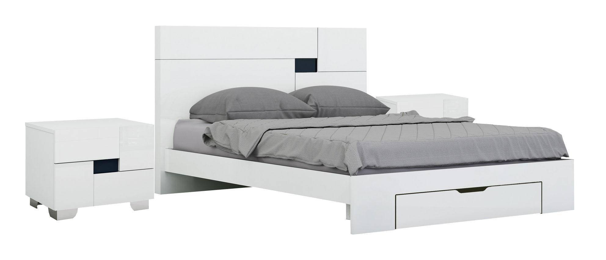 White Lacquer Bedroom Set Lovely White High Gloss Finish Queen Bedroom Set 3pcs Modern Global