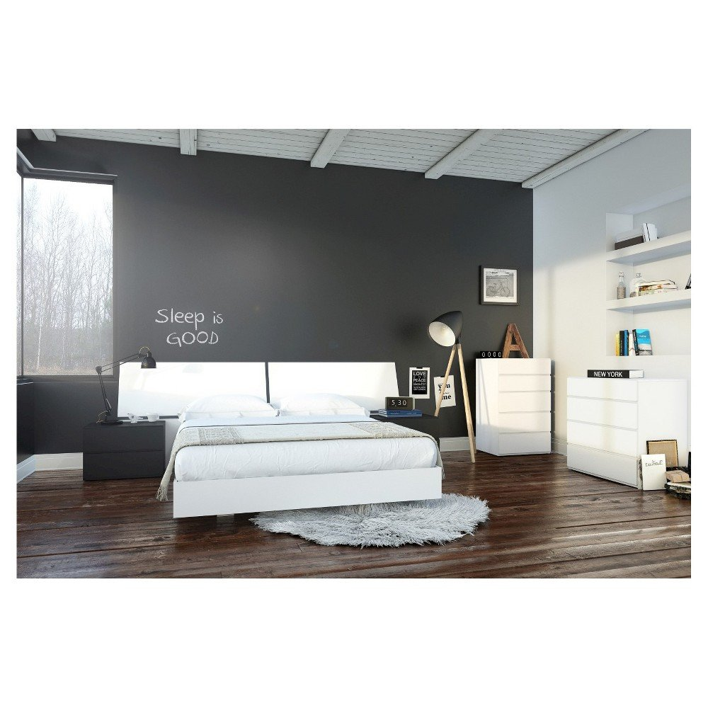 White Lacquer Bedroom Set Unique Melrose 6 Piece Queen Size Bedroom Set Nexera Black White