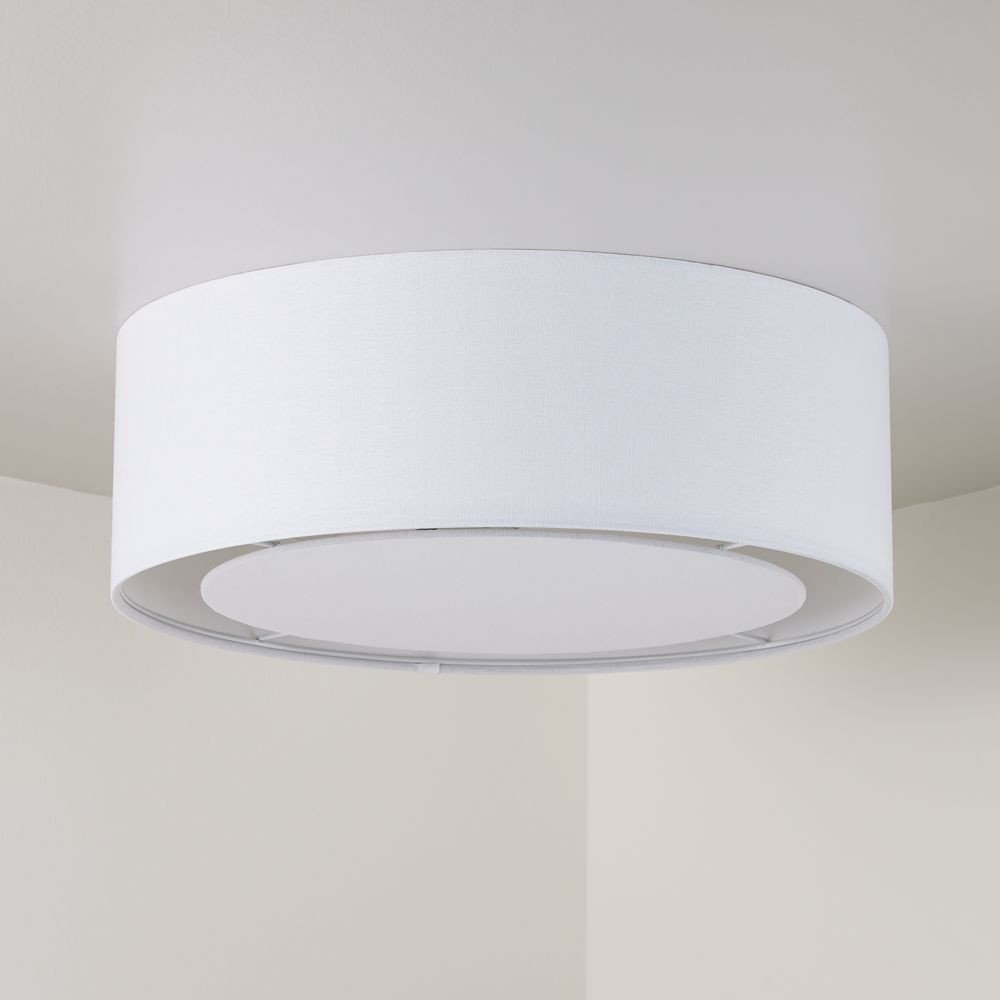 White Light for Bedroom Lovely White Drum Shade Flushmount In 2020