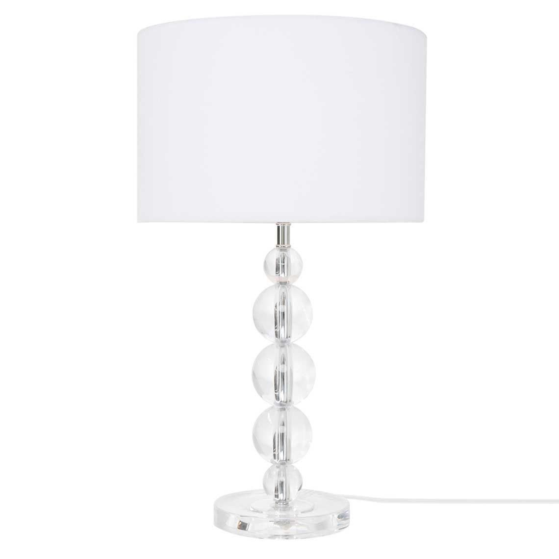 White Table Lamps Bedroom Inspirational Granada Table Lamp Clear White In 2019