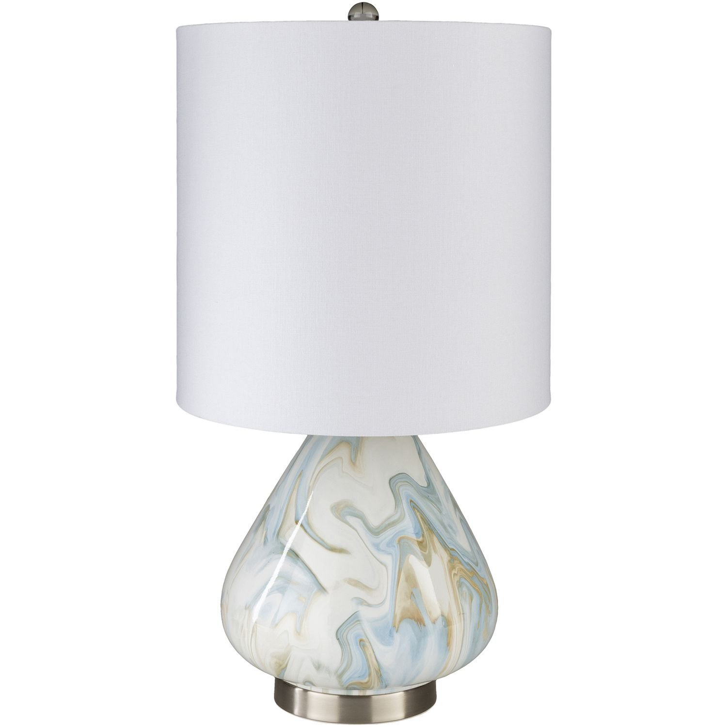 White Table Lamps Bedroom Inspirational Surya orleans White and Blue E Light Table Lamp In 2019