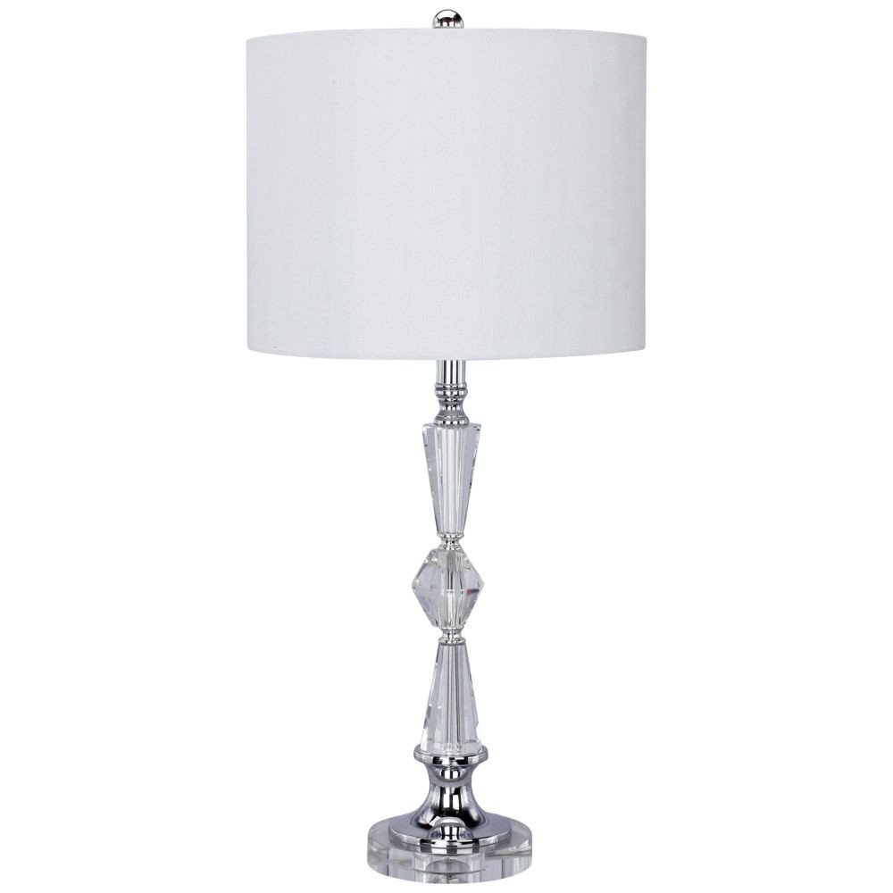 White Table Lamps Bedroom Inspirational Valencia Clear Crystal and Chrome Table Lamp with Drum Shade