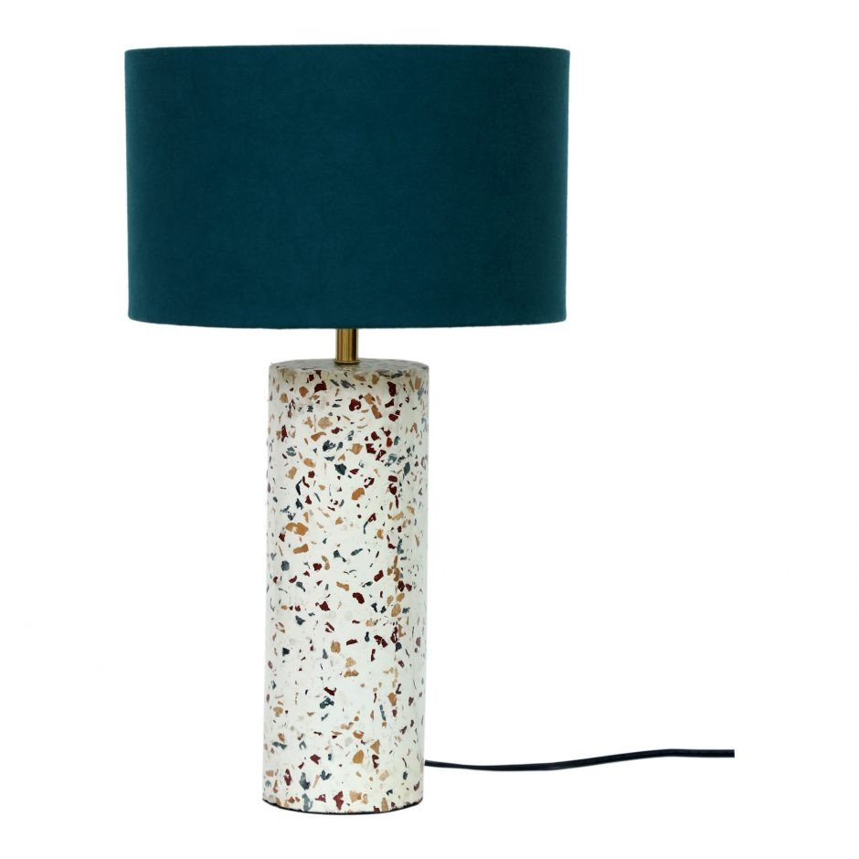White Table Lamps Bedroom Lovely Terrazzo Cylinder Table Lamp Products